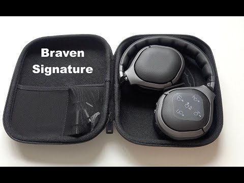 Braven Signature Wireless Over-Ear Noise-Cancelling Headphones Unboxing