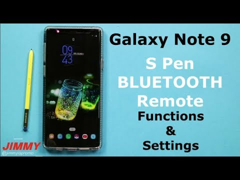 Galaxy Note 9 - S Pen Bluetooth Remote FEATURES and SETTINGS