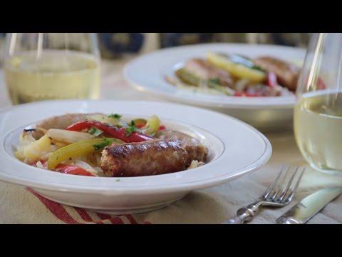 How to Make Sausage, Peppers, Onions and Potato Bake | Sausage Recipes | Allrecipes.com