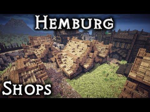 Minecraft: Hemburg - Ep20 Cheese Shop, Barrel Maker & Basket Weaver (Live Stream)