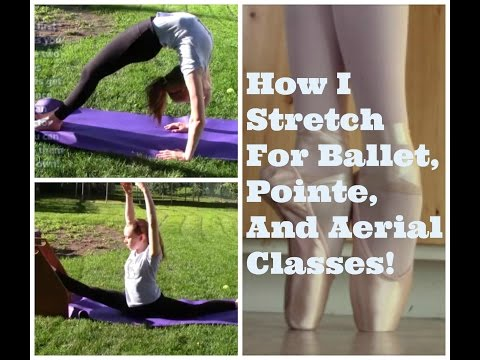 How I Stretch For Ballet, Pointe, And Aerial Classes