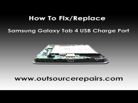 How To Fix Replace Broken Samsung Galaxy Tab 4 USB Charge Port
