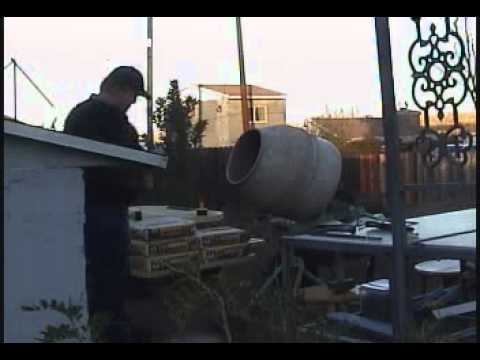 Cleaning Cement Mixer.wmv