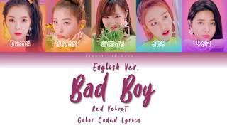 Red Velvet (레드벨벳) - Bad Boy English Version [Color Coded Lyrics]