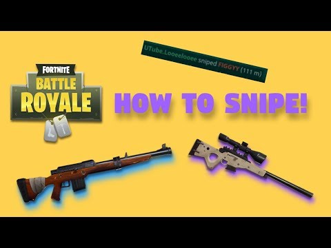 Fortnite - How to Get Good - Episode 4 (Part 3): SNIPER AIMING!