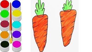 Carrot Easy Drawing For Kids Videos 9tube Tv