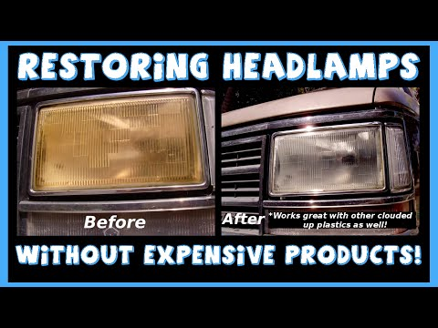 How To Restore Optical Clarity To Your Headlights & Other Plastics