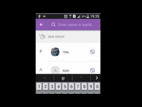 How to add a contact in viber app