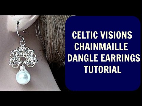 CELTIC VISIONS DANGLE CHAINMAIL EARRINGS TUTORIAL | STEP-BY-STEP | DIY |