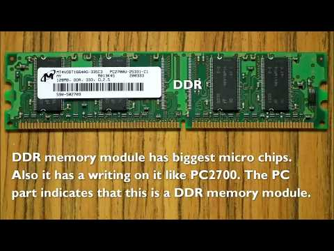 Difference Between DDR DDR2 DDR3 Desktop RAM Memory