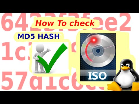 How to check md5 on linux iso files