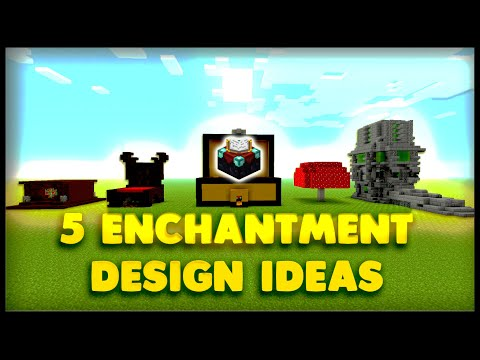 5 Enchantment Table Designs and Ideas Minecraft | 9000 Special