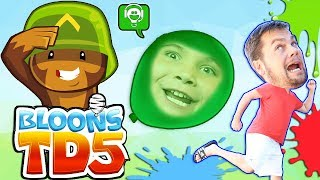 BLOONS Video Game App and Water Balloon Play with Surprises!