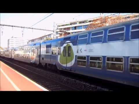 Trains at Maisons-Altfort, France (Paris-Lyon main line)
