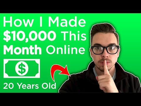 $10,000 per Month at Age 20 Working Online at Home
