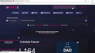 Cointiply Bitcoin Faucet ( how to use ) - getplaypk
