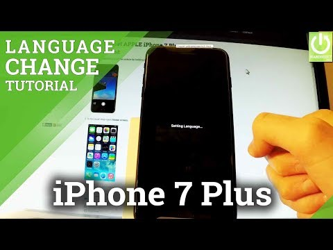How to Change Language in APPLE iPhone 7 Plus - APPLE Language List