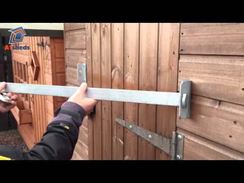 A1 ShedBAR - How to protect your shed with a door security bar