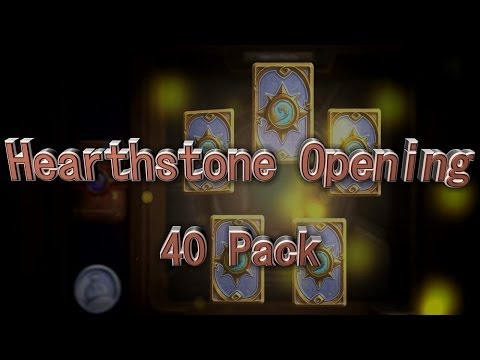 Busting Open 40 Packs ! - A Quest to Get All Legendaries [Hearthstone]