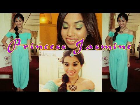 Princess Jasmine Tutorial : Makeup, Hair + Outfit! | Halloween 2014