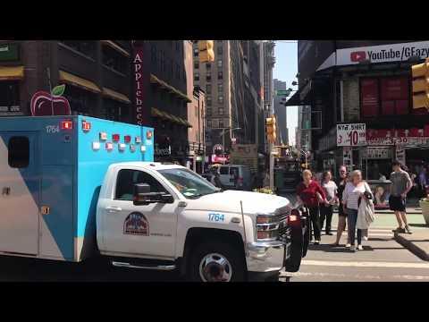 NYC Mount Sinai Ambulance Fights It's Way Through Traffic (Intricate Siren Work)