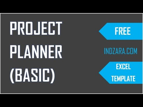 How to Plan Projects using free Project Planner Excel Template?
