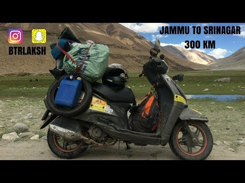 JAMMU TO SRINAGAR | LADAKH | TVS JUPITER | 2017