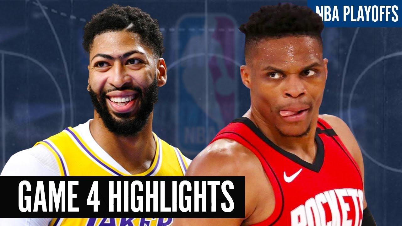 ROCKETS vs LAKERS GAME 4 NBA PLAYOFFS 2020