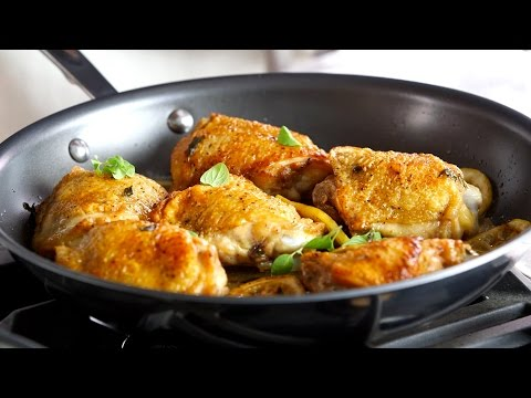 The Crispiest Chicken Thighs in All-Clad d5 Hybrid Cookware
