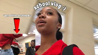 school vlog ... *gets a little physical*