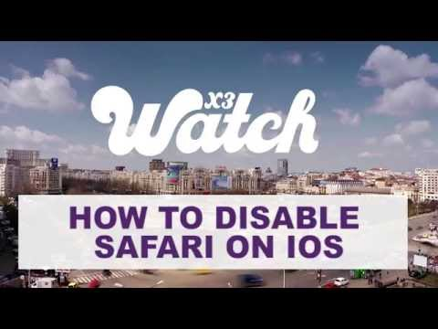 How to disable Safari on iOS