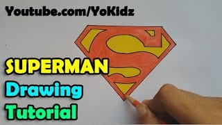 How To Draw Superman Symbol Or Logo For Kids Easy And Simple