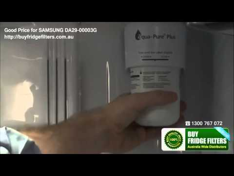 How to change  Samsung  Side by side  fridge  water filters?