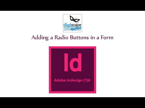 Adobe InDesign Cs6 Tutorials: Adding a Radio Buttons in a Form
