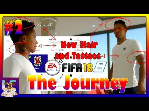 FIFA 18 | The Journey #2 | Customizing Alex Hunter (Tattoos, Clothes and Hairstyles)