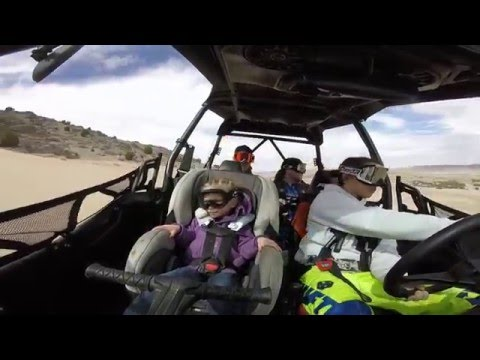 crazy girl driving the rzr