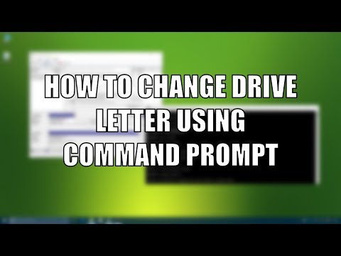 Change Drive Letter using CMD