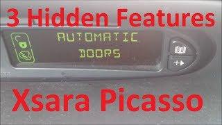 3 Hidden Features in Citroen Xsara Picasso 2003-2010