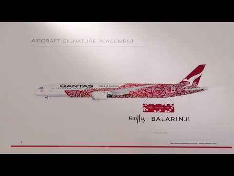 Qantas Dreamliner: Emily Kame Kngwarreye
