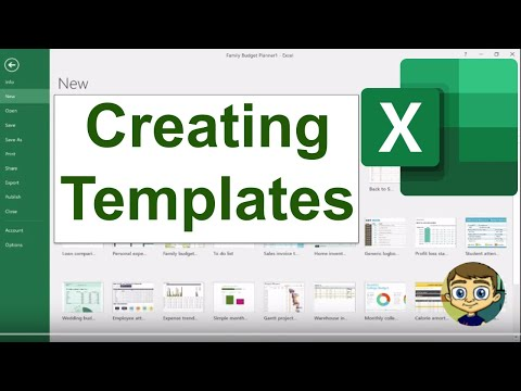 Creating Your Own Excel Templates - Tutorial 2017