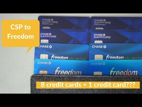 8 Cards: Product Change from Chase Sapphire Preferred to Freedom