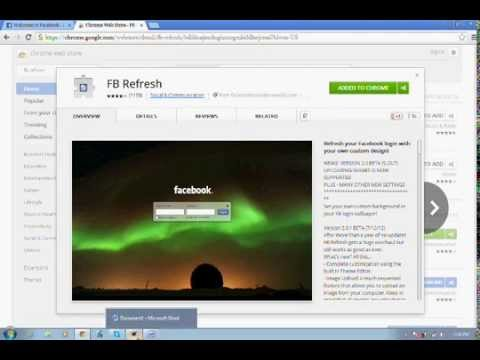How to change your fb login page :)