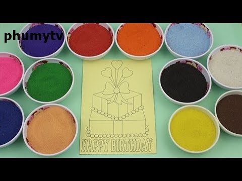 Sand paint color box birthday gift - Color sand painting - Gift box - phumytv