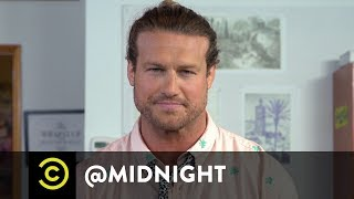 Masterclass - How to Tie a Man Bun with Dolph Ziggler - @midnight with Chris Hardwick