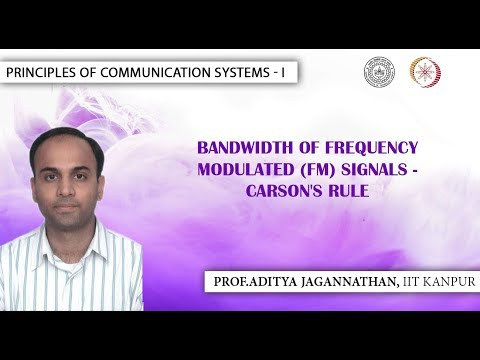 Lec 33 | Principles of Communication Systems-I |Bandwidth of FM Carson's Rule| IIT KANPUR