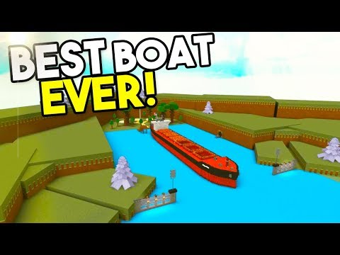THE NEW BEST BOAT EVER!   Build A Boat For Treasure ROBLOX