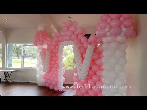 Pink castle - Balloons Online Decor Video Tour