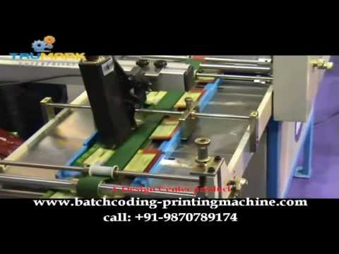 HIGH SPEED INKJET DATE PRINTING MACHINE,  batch coding machine, inkjet printing on pouches