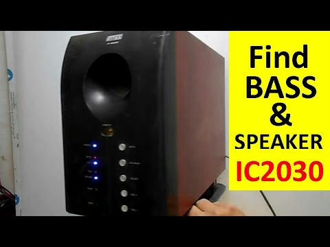 How to Find the Bass and Speaker ICs 2030 in a Music System