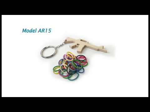 Rubber Band Gun Keychains by Elastic Precision